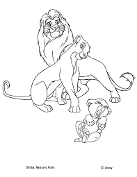 Simple Lion King Simba S Pride Coloring Pages With