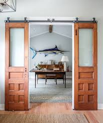 Door Design : Beach Style Home Office With Sliding Barn Doors ... Bedroom Extraordinary Barn Door Designs Hdware Home Interior Old Doors For Sale Full Size Winsome Farm Sliding 95 Track Lowes38676 Which Type Of Is Best For Your Pole Wick Buildings Bathrooms Design Homes Diy Bathroom Awesome Bathroom The Snug Is Contemporary Closet Exterior Used Garage Screen Large Of Asusparapc Privacy Simple