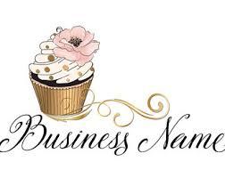 DIGITAL Custom logo design cute pastel cupcake logo bakery cupcake logo gold pink