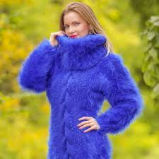 sweaters supertanya fuzzy blue mohair sweater dress