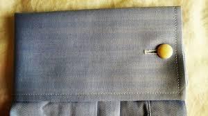 chemise mousquetaire maison de la chemise à chevrons bleu clair
