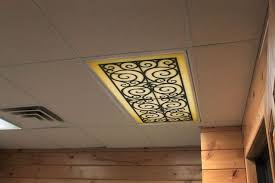 custom fit decorative fluorescent light covers panels diffuser