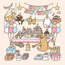 Pusheen the Cat wallpaper titled happy birthday pusheen