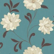 Valencia Wallpaper In Teal By Arthouse Vintage