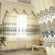 Valances Curtains For Living Room by Helen Curtain New Arrive Embroidered Set Curtains Luxury European