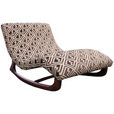 Adrian Pearsall Wave Rocking Chair Chaise In Walnut Base And ...