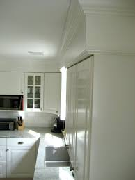 Pinterest Kitchen Soffit Ideas by Ikea Lidingo Kitchen Installation With Crown Molding Dining Room