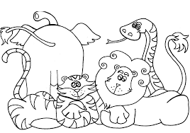 Draw Coloring Book Pages Animals 52 For Site With