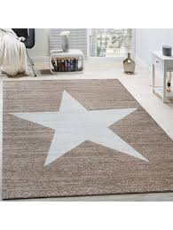 paco home designer teppich muster modern trendig kurzflor meliert in braun beige klingel