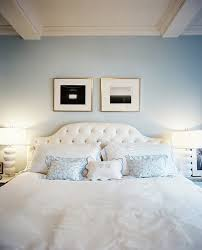 Blue Velvet King Headboard by Velvet Tufted Headboard Contemporary Bedroom Lonny Magazine