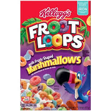 Fruit Loops With Fruity Shaped Marshmallows Breakfast Cereal
