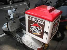 Scooter Fiberglass Pizza Hot Box Delivery Use For Hut