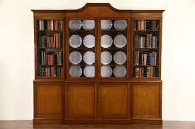 SOLD Baker Signed Cherry 8 Vintage Bookcase or Breakfront China