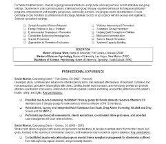 Social Work Resumes Samples Resume Worker Sample School
