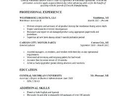 Resume For Warehouse Sample Jobs Assistant Of