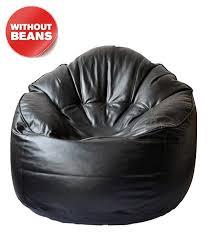 Tjar Mudda Black Bean Bag Cover Without Beans
