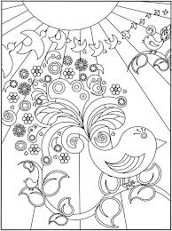 3 D Coloring Book Flower Power