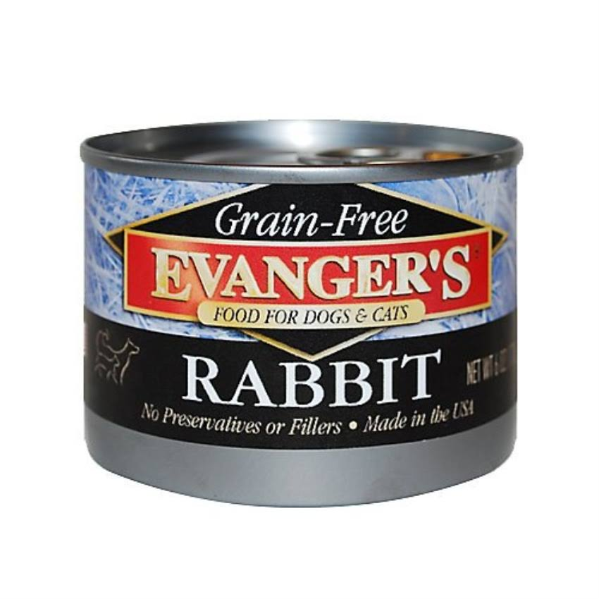 Evanger's Grain-Free Rabbit Canned Food for Dogs & Cats