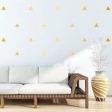goldene dreiecke 4 5cm wandsticker gold wandtattoo sticker