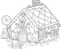 Gingerbread House Coloring Pages Free Online Printable Sheets For Kids Get The Latest Images