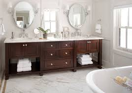 Brushed Nickel Medicine Cabinet With Mirror by Bed U0026 Bath Shaker Style Vanity Cabinet And Marble Countertops