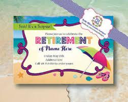 Pool Party Retirement Beach Themed Invitation