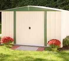 Arrow Newburgh 8x6 Storage Shed by Electro Galvanized Steel Storage Sheds Backyard Outdoor Garden