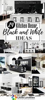 White Kitchen Idea 24 Black And White Kitchen Decor Ideas Images Design