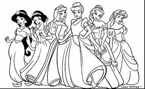 Brilliant Disney Princess Coloring Pages With Princesses And Free