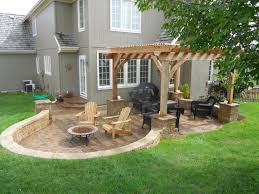 Outdoor Kitchen Patio Designs Fire Pit In Backyard Design Ideas ... Backyard Concrete Patio Designs Unique Hardscape Design Ideas Portfolio Of Twin Falls Services Garden The Concept Of Concrete Patio With Fire Pits Pictures Fire Pit Sitting Wall Home Decor All Gallery Stamped Banquette Fancy For Small Backyards 39 About Remodel