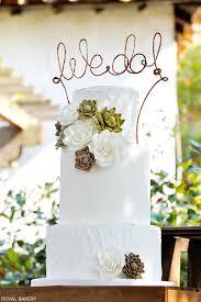 Rustic Succulents Wedding Cake