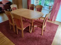 esszimmertisch tisch massiv erle mit 6 stühlen esszimmermöbel