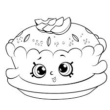 Shopkins Season 6 Apple Pie Coloring Pages Printable And Book To Print For Free Find More Online Kids Adults Of
