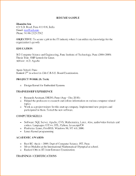 Bsc Computer Science Resume Doc Ideas Of Fresher Template Cute Format