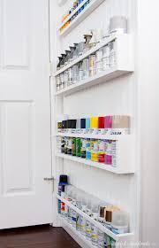 diy paint storage shelves office u0026 craft room makeover week 4