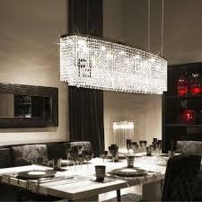 الفاخرة مصباح الحديثة الكريستال الثريا ضوء لماعة الزخرفية تركيبات إضاءة غرفة الطعام بار led الإضاءة
