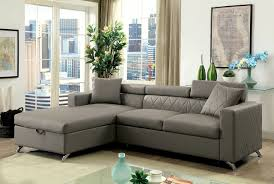 Grey Corduroy Sectional Sofa by Dayna Cm6292 Gray Sectional Sofa With Pull Out Bed Grey