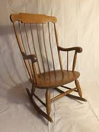 Nichols And Stone Windsor Rocking Chair by Nichols And Stone Tiger Maple Windsor Rocker Bentwood Spindles