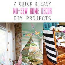 7 Quick And Easy No Sew Home Decor DIY Projects