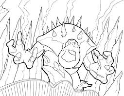 Frozen Snow Monster Coloring Page Sketch