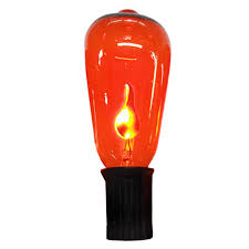 Halloween Flickering Light Bulbs by Shop Holiday Living 10 Count 9 Feet Ft Flickering Orange Edison