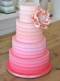 Pretty Pink Ombre Wedding Cakes
