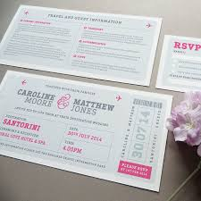 Boarding Pass Wedding Invitations As Extra Collection Of Your Invitation 9