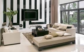 moderne wohnzimmer wandgestaltung in schwarz und weiß