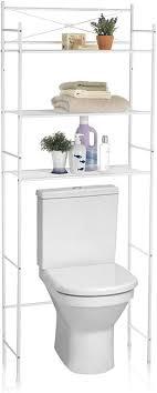 caro möbel waschmaschinenregal marsa toilettenregal badezimmerregal bad wc stand regal mit 3 ablagen in weiß