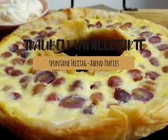 trauben vanille tarte