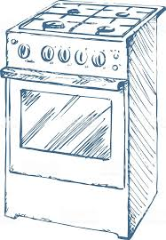Stove Vector Drawing Royalty Free Stock Art Amp More