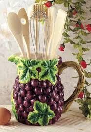 Amazon Grapes Wine Kitchen Utensil Tool Set Decor Pitcher 7 Piece Home