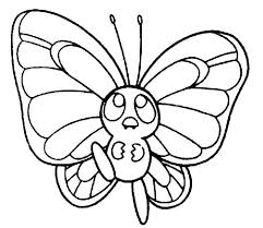 Printable Butterfly Coloring Page Cute Pages