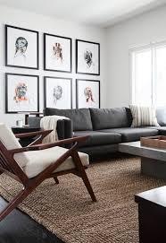 Modern Living Room With Jute Rug Midcentury Armchair Hardwood Floors Modrest Morley